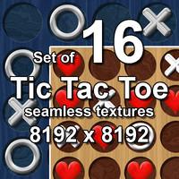 Tic-Tac-Toe 16x Seamless Textures