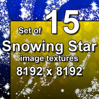 Snowing Star 15x Image Textures