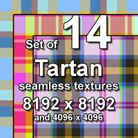 Tartan 14x Seamless Textures, set #2