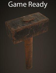 3d old hammer model