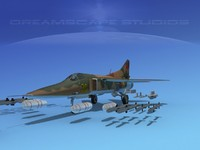 3d mig-27 weapons aircraft