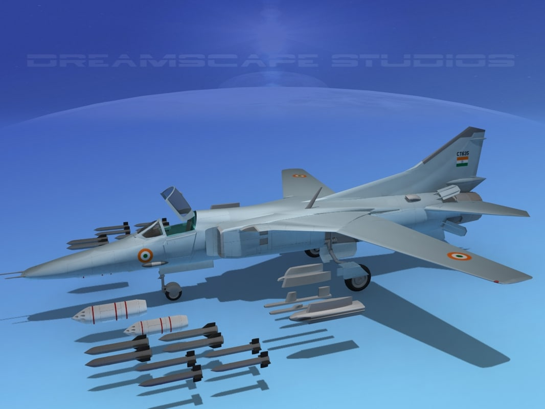 mig-27 flogger india 3d lwo