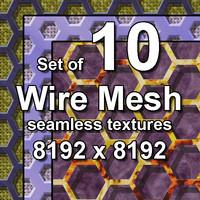 Wire Mesh 10x Seamless Textures, set #3
