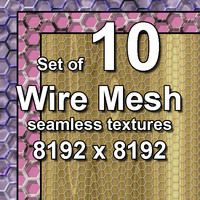 Wire Mesh 10x Seamless Textures, set #1