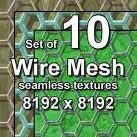 Wire Mesh 10x Seamless Textures, set #2