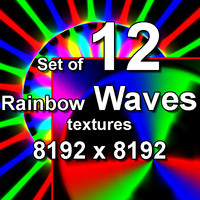 Rainbow Waves 12x Textures, set #2