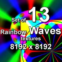 Rainbow Waves 13x Textures, set #3