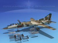 mig-27 weapons aircraft 3d 3ds