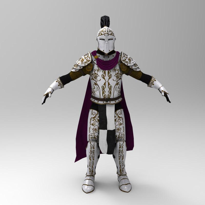 3d fbx knight games -