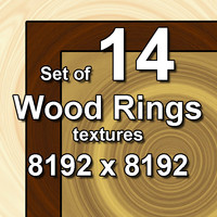Wood Rings 14x Textures
