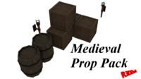 3d medieval prop pack model