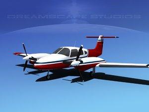piper seminole pa-44-180t turbo 3d model