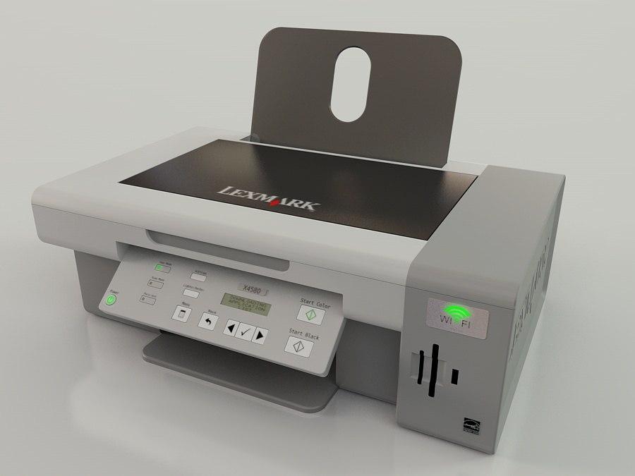 3d model lexmark all-in-one printer