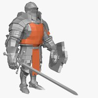 3d model of base mesh knight series