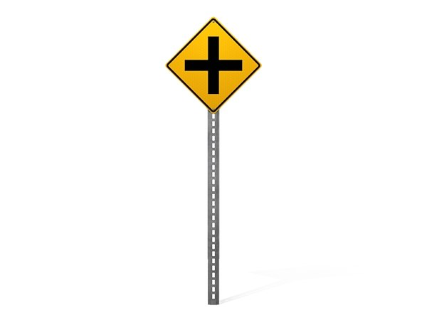 simple road sign 3d max