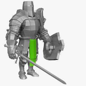 3d base mesh knight series model