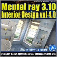 Mental Ray 3.10 In 3dsmax 2013 Vol.4 Rendering in Interior Design_cd front