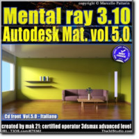 Mental Ray 3.10 In 3dsmax 2013 Vol.5  Materiali Autodesk_cd front