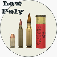 Low Poly Bullet Pack vol.1