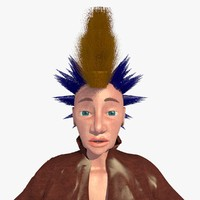 3ds max realistically mohican punk woman