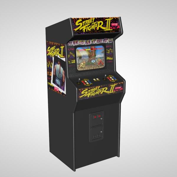 c4d street arcade machine