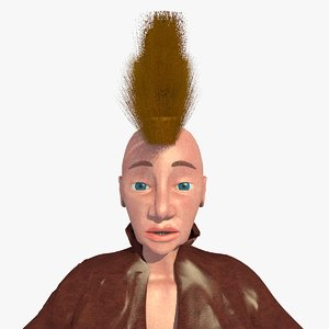 realistically mohican punk jill c4d