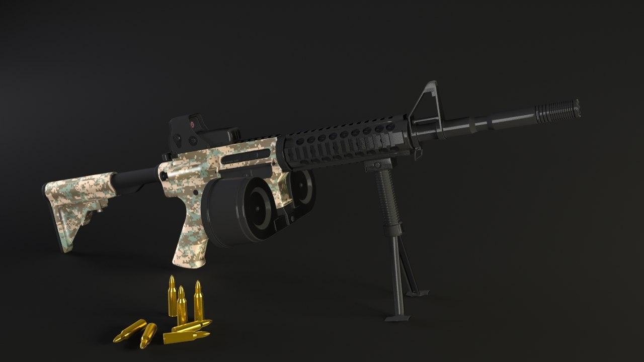3d m4a1 assault model