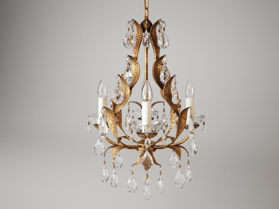 3d model of vaughan joliet chandelier cl0078gi