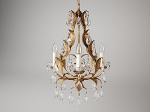 3d model of vaughan joliet chandelier cl0078gi