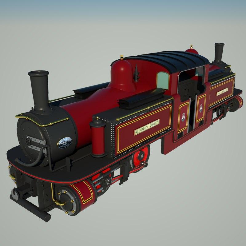 c4d fairlie historic locomotive engine