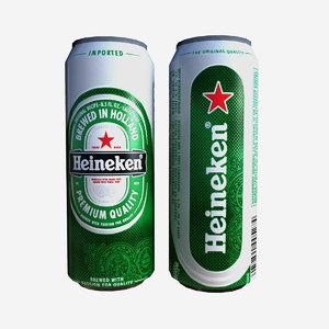 3ds max beer heineken