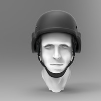 helmet head 3d 3ds