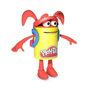 3d playdoh cartoon character model