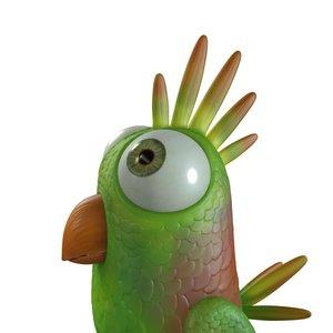 3d model cartoon bird