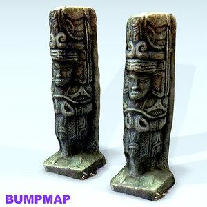 moai face stone 3d model