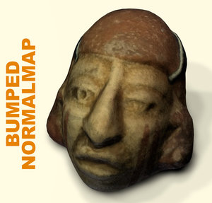 3d face archaeological mud model