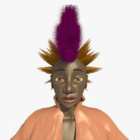 3ds mohican punk woman helen