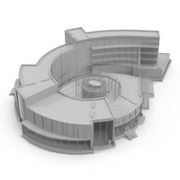 center development 3d model