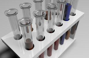 test tube 3d model