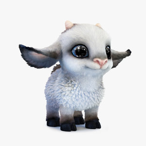 3d cute cartoon sheep model