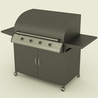 barbecue 3d obj
