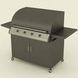barbecue 3d obj