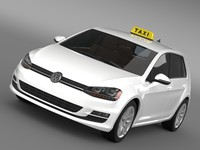 3d model volkswagen golf tsi taxi