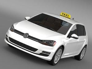 3d model volkswagen golf tsi taxi