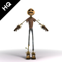 scarecrow crow scare 3d max