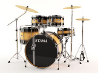 3d model tama superstars acoustic drums