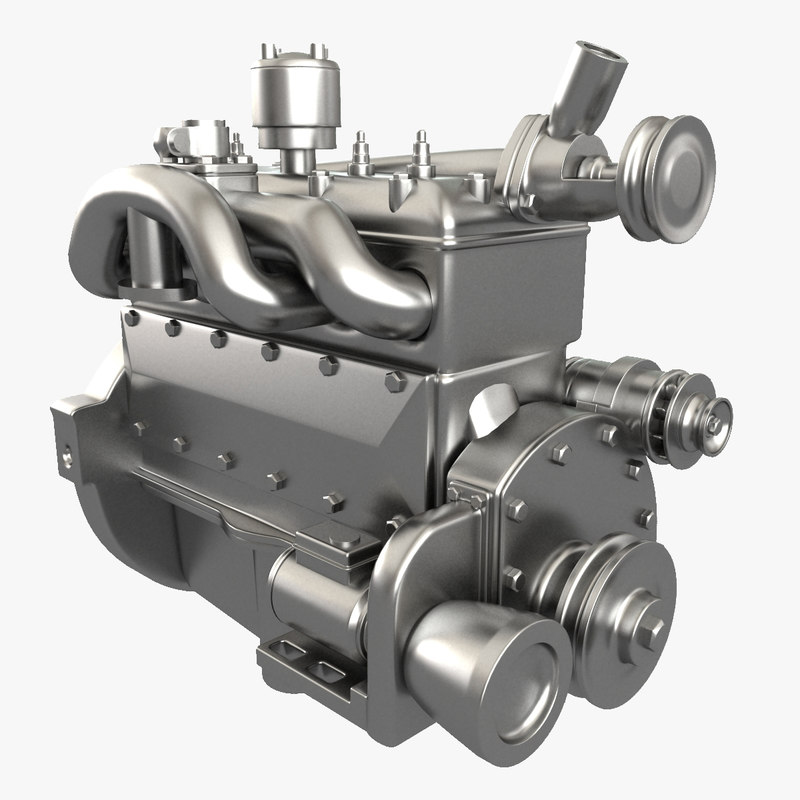 engine modelled 3ds