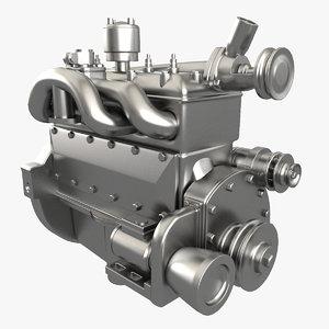 engine modelled 3ds