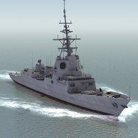 3ds alvaro class frigate f101