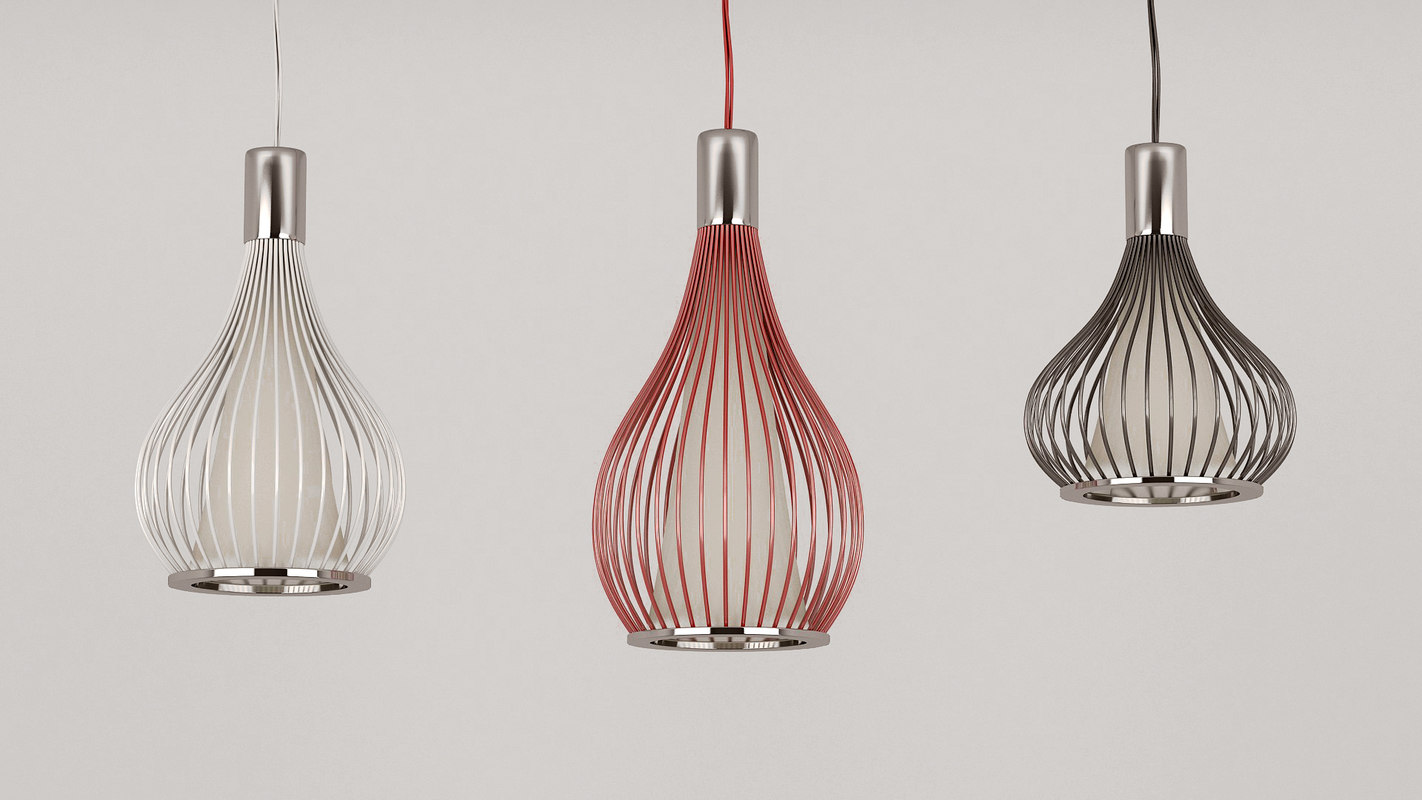 3d model cage pendant lighting